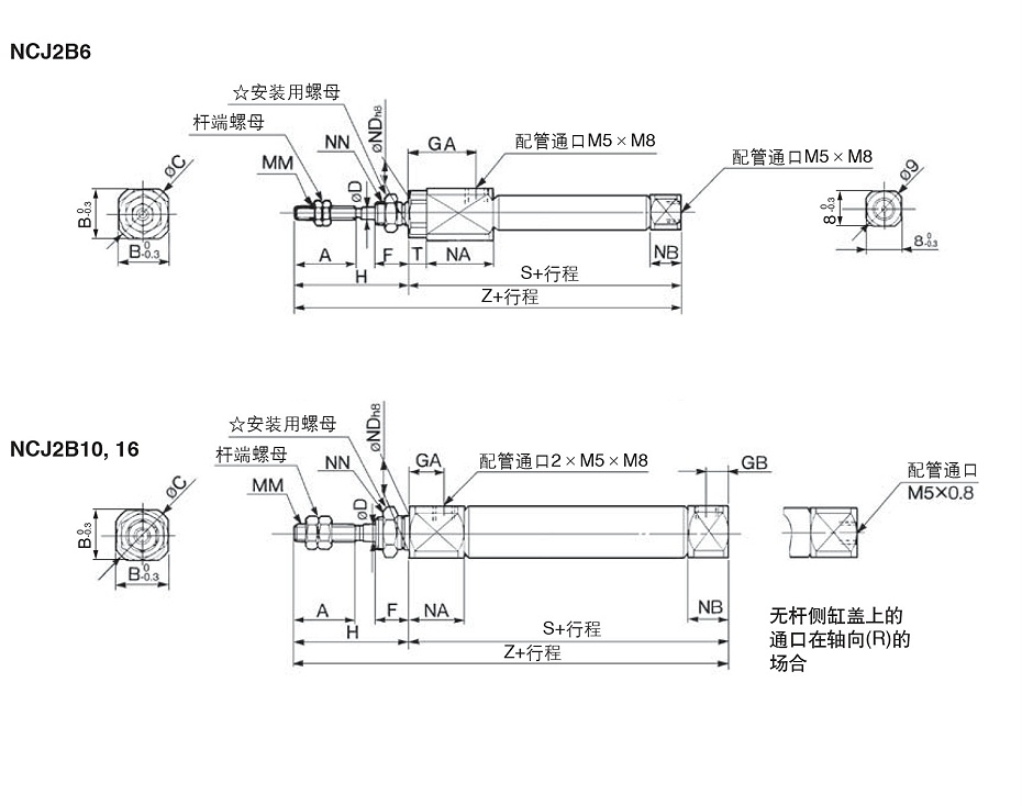 NCD2JB尺寸