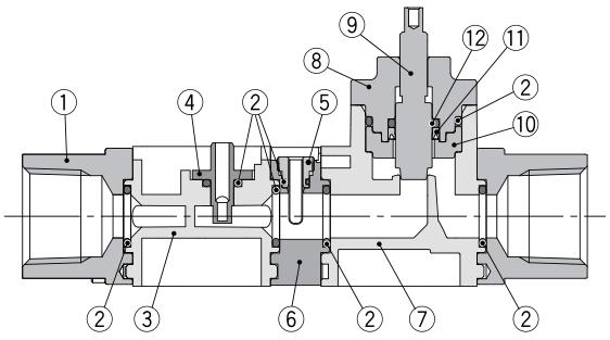 水用数字式流量开关产品结构图