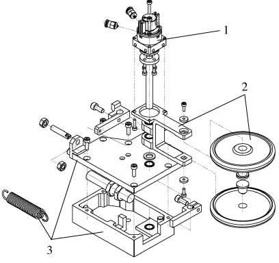 导烟轮驱动装置示意图